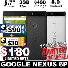 [Open Box set] Huawei Google Nexus 6P / 3GB RAM / 32GB 64GB 128GB ROM / Android 8.0 / 5.7 inch//