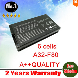 Wholesale new Laptop battery for Asus A32-F80 A32-F80A F80A F80M F80H F80S X85C X85L X85S Series 6 c