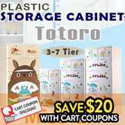 Totoro PLASTIC STORAGE CABINET/Storage Box/DRAWERS/3-7Tier AVAILABLE