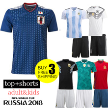 2018  FIFA World Cup football JERSEY Germany /Japan / Argentina SUIT TOP+SHORT