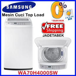 [FREE SHIPPING JADETABEK]SAMSUNG Mesin Cuci Top Load Diamond Drum WA70H4000SW (7Kg)|WA80H4000SW (8kg)  Garansi 5 Tahun
