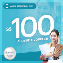 ACUVUE® $100 voucher at $94 🔶 First 40 Unique Shoppers to receive $20 Zalora Evoucher