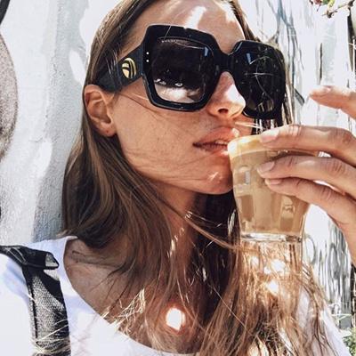 b6ee8b9767 wholesale HBK New Sunglasses -Women Square Oversized Sunglasses Women  Fashion Sun Glasses Lady Brand