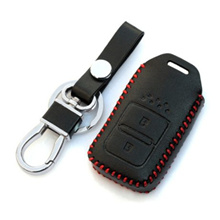Honda Vezel / HRV / CRV / Jazz High Quality Leather / Key / Fob Case / Pouch with red thread
