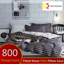 New Design ~ 800 THREAD COUNT ELASTIC FITTED BEDSHEET SET