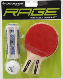 DUNLOP MINI TABLE TENNIS SET PINGPONG TOY GAMES HOBBY PING PONG TOYS