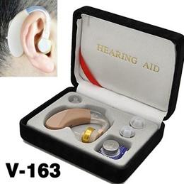 Mini Hearing Aid Aids Sound Amplifier Ear Voice Receiver V-163 Deaf Hearing Aid Hot Sale