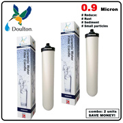 2x 0.9 micron Doulton Standard Ceramic Water Filter Candle reduce rust sediment small particles