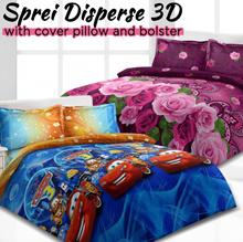 [ GARANSI ANTI LUNTUR ] Sprei Sett Vito Disperse 3D Rossana / Tanpa Bed Cover