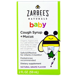 Zarbee Baby Cough Syrup + Mucus Natural Grape Flavor 2 fl oz (59 ml)