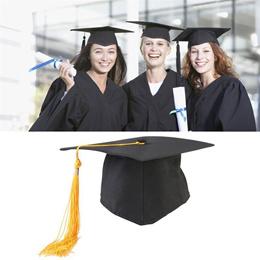 Adjustable Adults Student Mortar Board Graduation Ceremony Commencement Hat Cap Fancy Photo Dress Ac