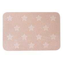 Francfranc diatomaceous earth bus mat star light pink