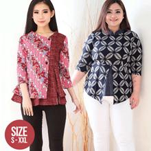 [NEW 16 JAN ! Standard Modern Batik Tops / Jumbo Size / Bigsize Women#39s Batik Blouse / Batik Blous