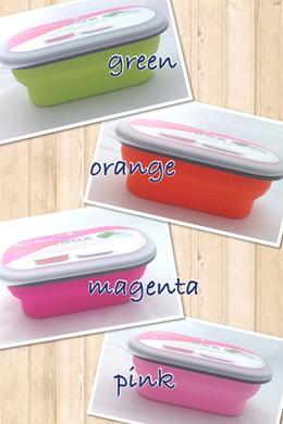 LexNgo Silicone Collapsible Snack Box Small (BPA Free)