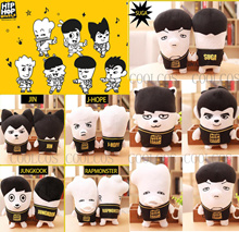 BTS HIPHOP MONSTER Character Plush Doll BTS - Bulletproof Shonen Group Bantan BTS (Bulletproof Boys' Group) Plush Doll JIN / SUGA / V / JIMIN / J - HOP (23 CM)