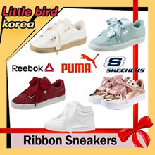[Season off] ▷●◁RIBBON Lace-up Sneakers/Puma Basket Heart/Reebok Free Style/Skechers/Korean