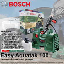 Bosch Easy Aquatak 100 Electric High Pressure Washer 1200W