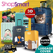 *BUY 2 FREE 1 GIFT*Travel 3D Luggage Protector Cover/Elastic Suitcase Bag Cover**MANY DESIGN**