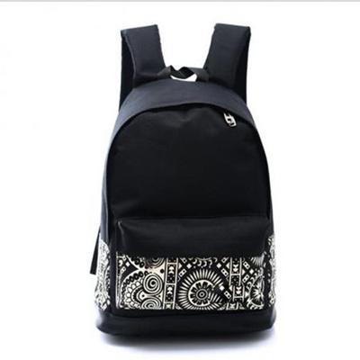 6697e4d7a22 Women Lady Unisex fashion Travel Backpack Black Bags School bag Rucksack  Casual
