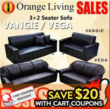 [FURNITURE SALES]BUY VANGIE / VEGA SOFA 2/3/3+2 SEATER SOFA!!! CRAZY DEAL/ OFFER...