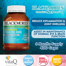BLACKMORES Odourless Fish Oil 400 Capsules (Expiry 2020)