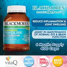 BLACKMORES Odourless Fish Oil 400 Capsules (Expiry 2020)