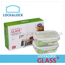 LOCKNLOCK GLASS CONTAINER SET (2PC)