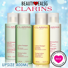 FLASH DEAL!! (UPSIZED!!) CLARINS TONING LOTION 200ML /CLEANSING MILK 200ML (NORMAL OR DRY SKIN)AND(COMBINATION O