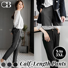 OB CLUB ★ OBDESIGN ★ ORANGEBEAR ★ CALF LENGTH OFFICE SUITS PANTS ★ S-XXXL SIZE ★ PLUS SIZE ★