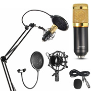 Vogue BM800 Condenser Microphone Pro Audio Studio Sound Recording Arm Stand Pop Filter