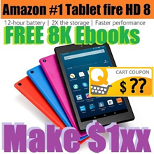 AMAZON Kindle Fire HD 8 Tablet with Alexa-8 inch HD Display-16GB-with Special Offers