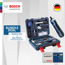 [Official E-store] Bundle Deal! Bosch GO + Household 66 Piece Set. 2 Item for the Price of 1!
