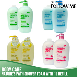 Bundle of 3⭐Follow Me Natural Bath★6 Bottles 1L Each★Honey Milk/Anti Bacteria/Botanical/Floral