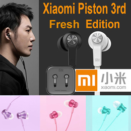 Original XiaomiFresh Edition Headphone piston 3rd Bass Earphones Headset With Remote Mic For Phone