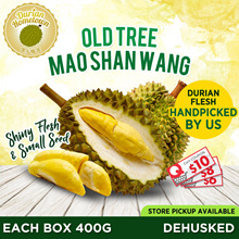 [DURIAN HOMETOWN] DURIAN SEASON SPECIAL! 1 box 400g Old Tree MSW ★DEHUSKED★ CHEAPEST in QOO10!