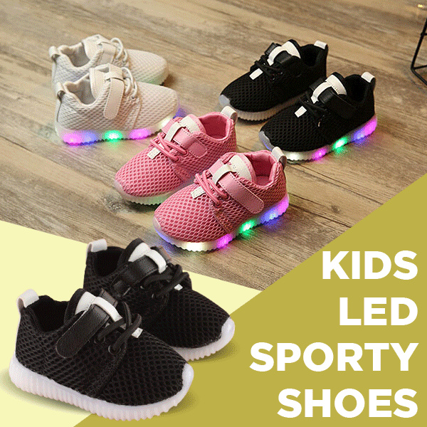 Sepatu baby/anak boys girls LED soft breathable balita sport Deals for only Rp115.000 instead of Rp147.436