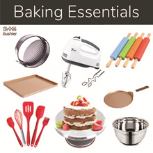 NEW ARR❤ BAKING ESSENTIALS ❤ Baking Pan/Non Stick/Cupcake Tray/Cake Turntable Display/Mixing Bow