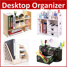 CO*Desktop Organizer Pen Book Shelf Organiser Makeup box Cosmetic Jewelry Storage Make up
