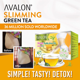 AVALON Slimming Green Tea | Reduce Bloating | Non-Caffeine | Expiry 2022