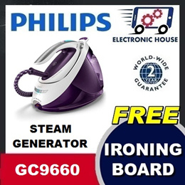 ★ FREE IRONING BOARD $299 - Philips GC9660/36 Steam Generator Iron ★ (2 Years World-Wide Warranty)