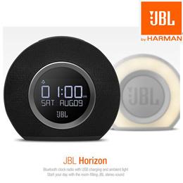 JBL Horizon Bluetooth Clock Radio with Usb Charging and Ambient Light