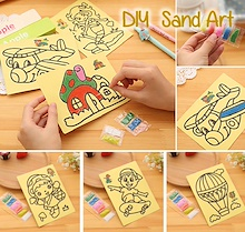 ❤ Kids Goodie Bag Gift ❤ Sand Art Work ❤ DIY Art and Craft ❤ School Creative Educational Activity ❤