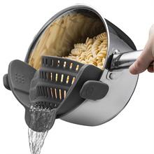 Kitchen Strainer Clip On Silicone Colander