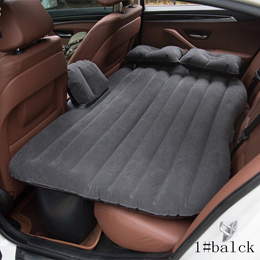 Air Car Mattress Bed Inflatable Back Seat Travel Bed Camping Sleep Bed Pillows Detachable Separate