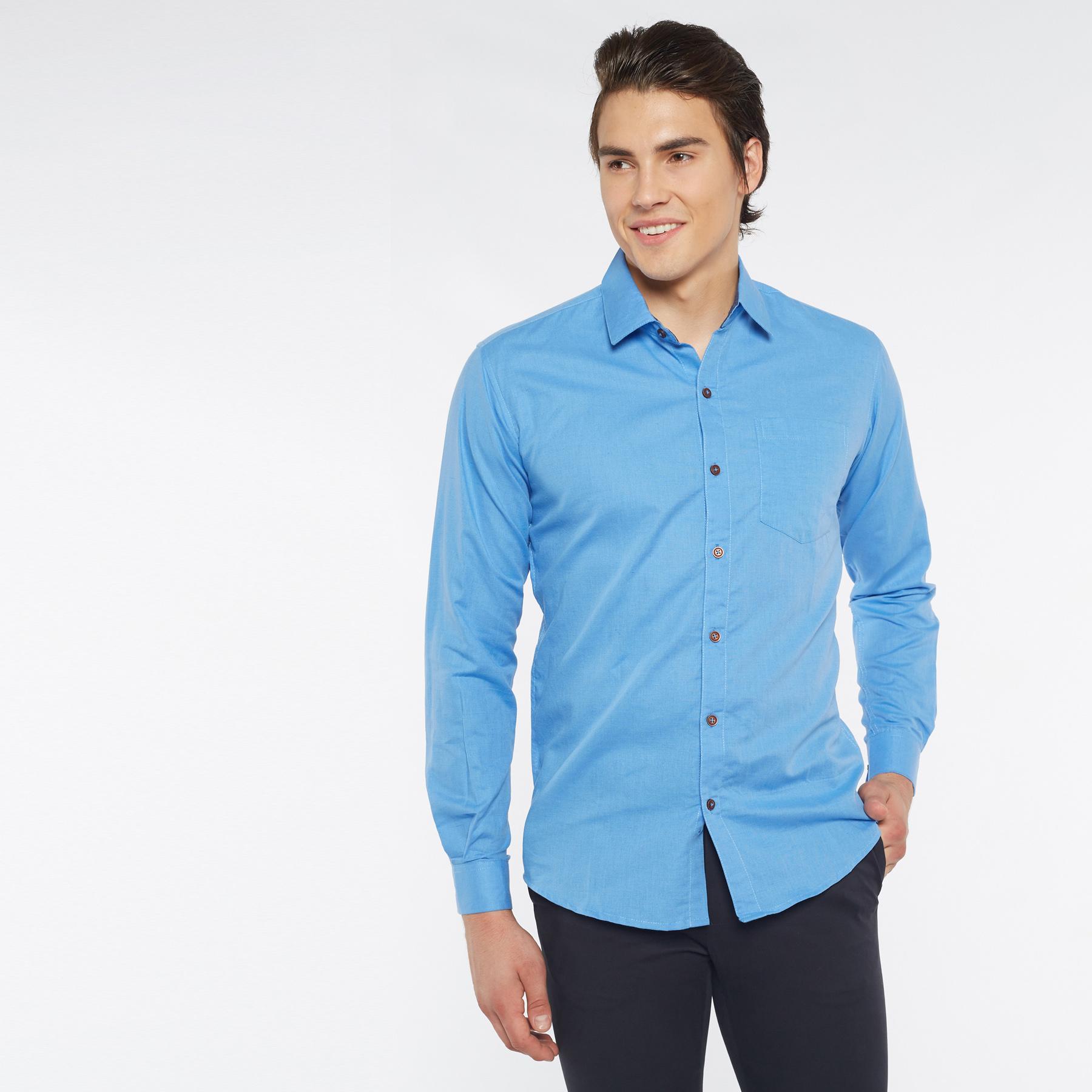 100 Linen Shirt Men S Clothing Qoo10