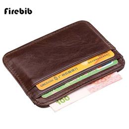 men Wallet Business Card Holder bank cardholder leather cow pickup package bus card holder Slim