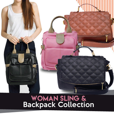 [HARGA WOW ] Tas Wanita 3 Fungsi_Sling Bag / Backpack / Shoulder bag / BEST SELLER Deals for only Rp179.000 instead of Rp179.000