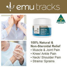 [100% NATURAL PAIN RELIEF] Emu Tracks Emu Oil Balm 50gm. Muscle/Joint Pain. No Steroids.