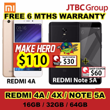 Xiaomi Redmi 4A/ 4X /Note 5A Dual SIM | FREE 6 MTHS warranty! | LOCAL SELLER | READY STOCKS!!!
