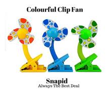 Colourful Mini USB/Battery Portable Clip Fan/Baby Stroller Fan
